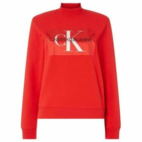 Calvin Klein Monogram Satin Box Logo Sweater