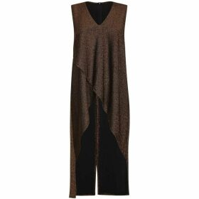 Mela Metallic Longline Top