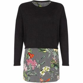 Yumi Striped Floral Overlay Top