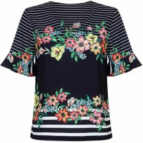 Yumi Striped Floral Top