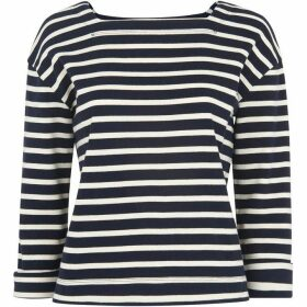 Whistles Breton Stripe Square Neck Top