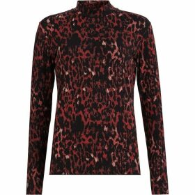 All Saints Leopard Kiara Top