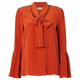 MICHAEL Michael Kors Bell sleeve silk top