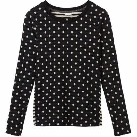 Sandwich Long Sleeve Polka Dot Top