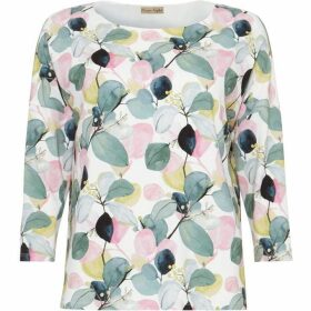 Phase Eight Laina Leaf Print Top