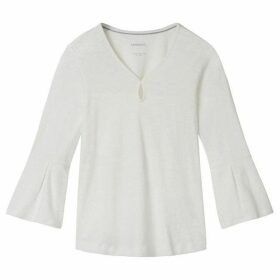 Sandwich Bell Sleeve Jersey Top