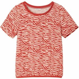 Sandwich Zebra Print Woven Top