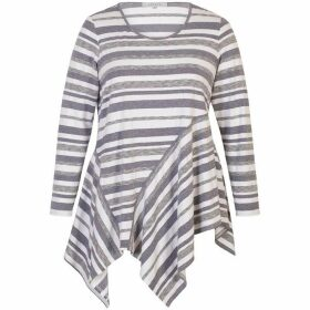 Chesca Striped Jersey Top