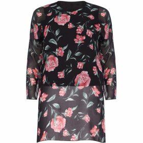 Mela London Curve Floral Print Plus Size Tunic