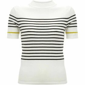 Mint Velvet Ivory Striped Fitted Tee