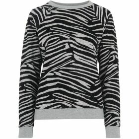 Whistles Zebra Flocked Sweat