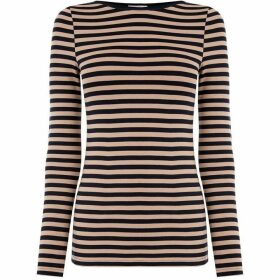 Oasis Easy Stripe Boatneck Top