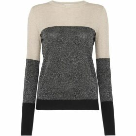 Whistles Colour Block Sparkle Sweater