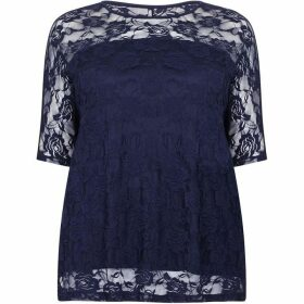 Mela London Curve Floral Lace Printed Top