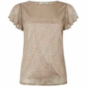 Oasis Angel Sleeve Plisse Top