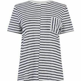 Warehouse Sheer Cutabout Stripe T-Shirt