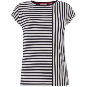 Oasis Spliced Stripe Tee