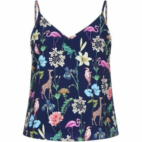 Yumi Tropical Animal Print Camisole Top
