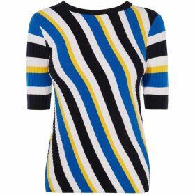 Karen Millen Striped Ribbed T-Shirt