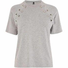 Karen Millen Eyelet Detail T-Shirt