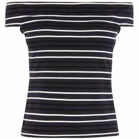 Karen Millen Striped Bardot Top