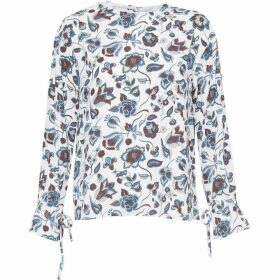 Great Plains Moray Floral Button Back Top