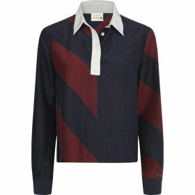 Tommy Hilfiger Icon Cropped Silk Blouse