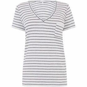 Warehouse Linen Stripe T-Shirt