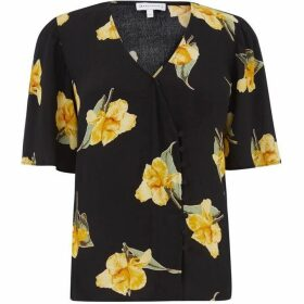 Warehouse Katy Floral Side Button Top