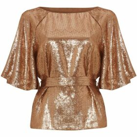Phase Eight Kiera Sparkle Sequin Top