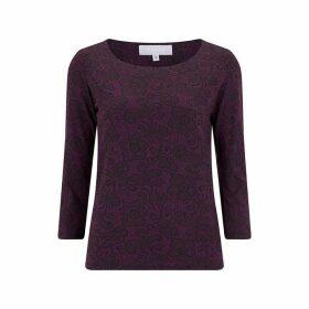 Havren Peggy Lace Print Tee Shirt