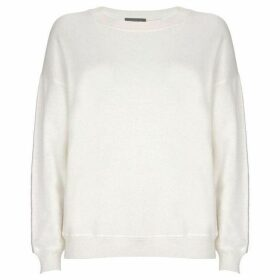 Mint Velvet Ivory Star Sleeve Knit Sweat