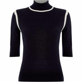 Max Mara Studio Loris short sleeve high neck sweater