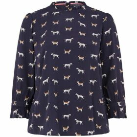 Oasis Curve Cat And Dog Print Top