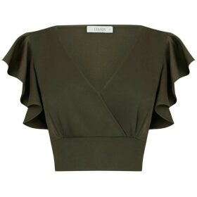 Oasis Cropped Satin Tie Top