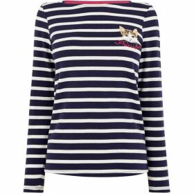 Oasis Purrrfect Stripe Bretton Top