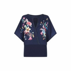 Yumi Floral And Flamingo Knitted Kimono
