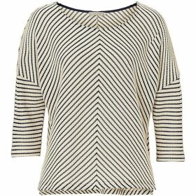 Betty Barclay Chevron stripe textured top