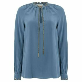 MICHAEL Michael Kors Scallop grommet chain top
