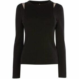 Karen Millen Lace-Insert T-Shirt