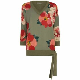 Oasis Rosemary Woven Front Top