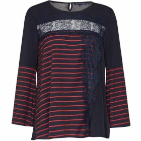 French Connection Isabella Light Striped Crepe Top