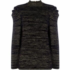 Biba Pleat Sleeve Roll Neck Knitted top