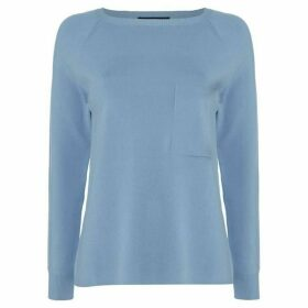 Max Mara Weekend Canapa crew neck sweater with pocket