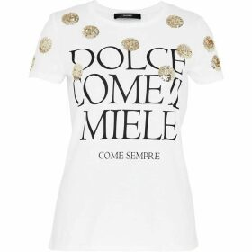 Hallhuber T-Shirt With Slogan & Sequins