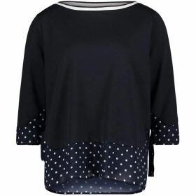 Betty Barclay Polka Dot Trim Top