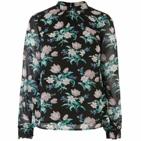 Oasis Petunia Tulip High Neck Top