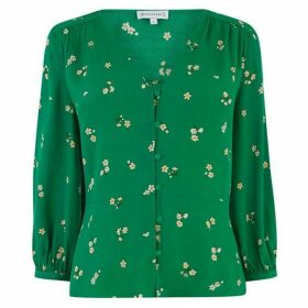 Warehouse Verity Floral Button Front Top