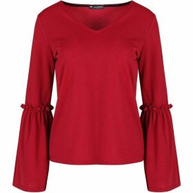 Be Jealous V Neck Bell Sleeve Top