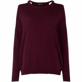 Biba Cashmere blend cold shoulder top